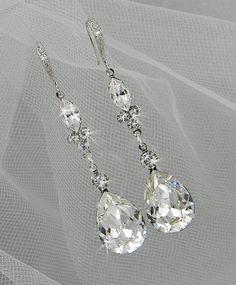 Dangle Crystal Bridal Earrings Wedding earrings by CrystalAvenues, $42.00