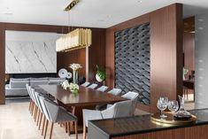 Interior by Madeleine Design Group in Vancouver, Canada. *Re-pin to your inspiration board* Luxury Dining Room, Inspiration Boards, This Is Us, Ocean, House, Photo And Video, Interior Design, Vancouver, Group