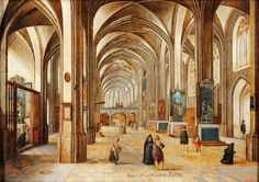 Interior of a gothic church by Hendrik van Steenwijk II, 1605-1615 (PD-art/old), Muzeum Czartoryskich, from the collection of Stanislaus Augustus
