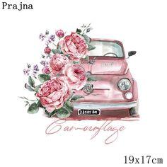 TH0683 Cute Illustration, Watercolor Illustration, Watercolor Art, Flower Frame, Flower Art, Bus Art, Image Couple, Chanel Art, Decoupage Vintage