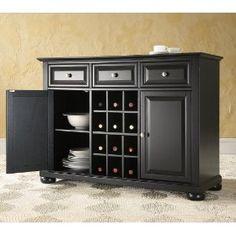 Crosley Furniture KF42001ABK Alexandria Buffet Server Cabinet $399.99