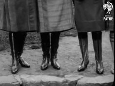Russian boots in Pathe newsreel, 1930 Something Old, Boots, Black N White, Crotch Boots, Shoe Boot, Rain Boot