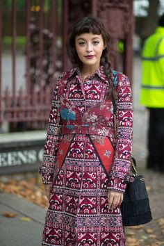 We're all about mixing seasonal prints this fall. See 100+ inspiring street style outfits on BAZAAR: