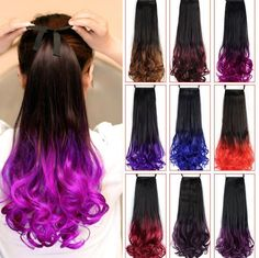 Clip In Real Human Remy Hair Unprocessed Straight Hair Extensions Wavy Ponytail, Ponytail Hair Extensions, Synthetic Hair Extensions, Ponytail Hairstyles, Straight Hairstyles, Drawstring Ponytail, Queen Hair, Remy Hair, Dance Dresses