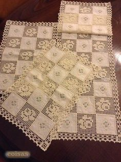 Discover thousands of images about Crochet & Fabric Quilt Tutorial Crochet Fabric, Crochet Quilt, Fabric Yarn, Crochet Art, Crochet Home, Vintage Crochet, Filet Crochet Charts, Crochet Motifs, Crochet Squares