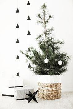 01c0aa1c04 Dec 15 DIY Christmas tree garland + A Charlie Brown tree