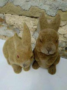Shabby Vintage Antik Kitzingen Hase beflockt byROSALIE