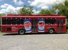 The Oskar Blues Trolley in Brevard, NC