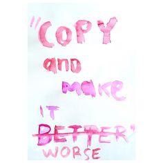 Rules of creativity.  #tabularasa #steallikeanartist #emmapilipon