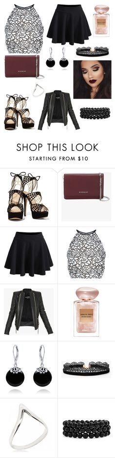 """""""Untitled #904"""" by floridaflower11 ❤ liked on Polyvore featuring Givenchy, Keepsake the Label, Balmain, Giorgio Armani, Bling Jewelry and Azalea"""