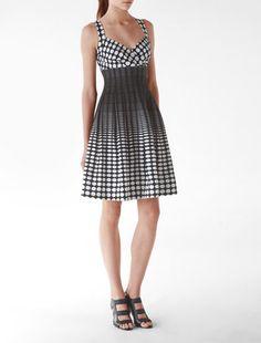 ShopStyle: Optical Polka Dot Print Dress