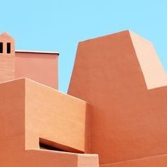 A photo series of beautiful architecture, playing with its characteristic and impressive color contrast with the sky.
