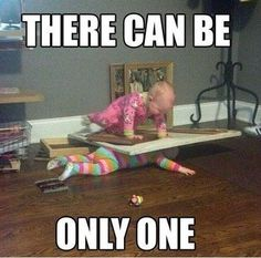 there can be only one. funny babys fighting.   Funniest Pictures Of The Week