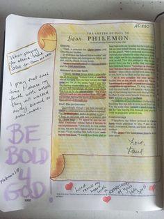 Philemon #biblejournaling #illustratedfaith