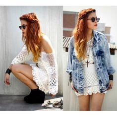 Hand Crochet Delicacy Dress//