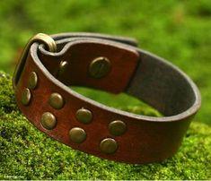 Indonesian Brown Leather Bracelet - Rustic | NOVICA