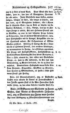 Kongeligt reskript af 19. april 1754 om at bønderne på Farøe må søge deres kirkegang og ministerialforretninger på Bogø.