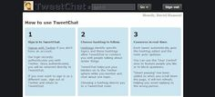 Step by step to tweeting at an event.