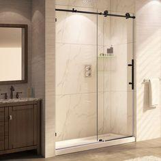 "Trident Mocha 62"" x 56 - 60"" Sliding Oil Rubbed Bronze Shower Door"