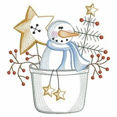 Vintage Snowman 3, 3 - 3 Sizes! | What's New | Machine Embroidery Designs | SWAKembroidery.com Ace Points Embroidery