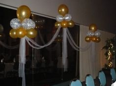 decoracion de salones con globos - Buscar con Google Fiesta Decorations, New Years Decorations, Balloon Decorations, Birthday Decorations, Wedding Decorations, Balloon Ideas, Balloon Tower, Balloon Clouds, Baby Balloon