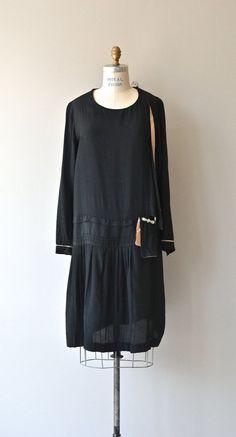 Forever Tarry dress vintage 1920s dress black silk by DearGolden