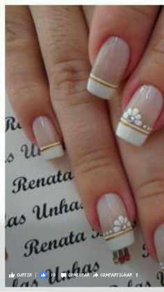 French Manicure Nails, Manicure And Pedicure, Gel Nails, Gel Nail Designs, Pink Nails, Summer Nails, Pretty Nails, Diy And Crafts, Finger