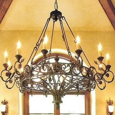 Strong And Shine, Wrought Iron Lighting: Elegancia Magnifica Wrought Iron Chandelier ~ Chandeliers Inspiration Wrought Iron Light Fixtures, Wrought Iron Chandeliers, Rustic Light Fixtures, Rustic Chandelier, Rustic Lighting, Chandelier Lighting, Outdoor Lighting, Ceiling Beams, Spanish Colonial