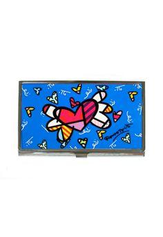 BLUE HEART card holder $15