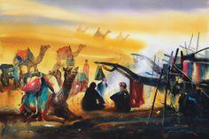 Rajasthan Desert  _ 30'' x 45'' _ Watercolor on Paper _ 2012