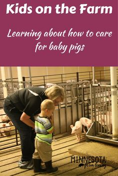 Picture of my grandson on the farm. Teaching kids on the farm how to care for pigs as well as other animals Modern Agriculture, Agriculture Farming, Farm Pictures, Baby Pigs, Farms Living, Our Kids, Farm Life, Farm Animals, Teaching Kids