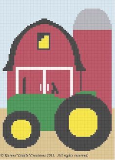 Crochet Patterns Tractor Barnyard Farm Afghan Pattern | eBay
