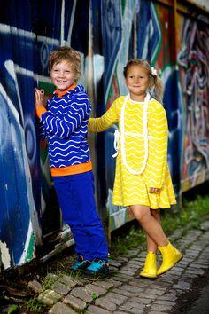 Lastenvaatteet - Metsola SS13: Balloon dress (Wave yellow) (74/80-146/152cm) - Mekot ja hameet - Metsola - Lasten Metsola Oy verkkokauppa - Lasten vaatteet