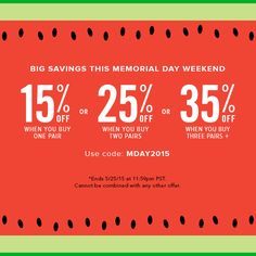 memorial weekend shoe sales
