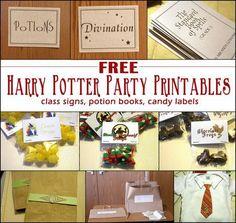 Harry Potter Inspired Free Printable Beverage Labels httpwww