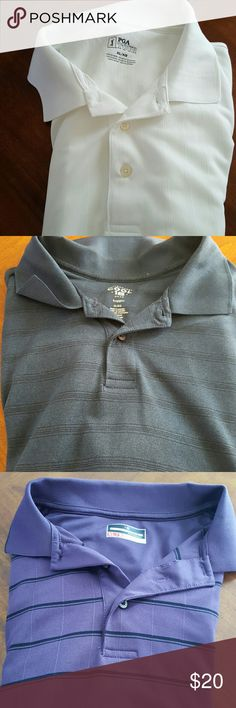 4 pack golf polo shirts 4 each golf polo shirts, pictures # 3 is a long sleeve all 4 are dry fit. mixed Shirts Polos