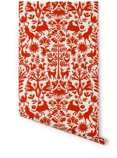 Otomi (Red) – Hygge & West. Going on one wall in my bathroom. Merry Christmas to me!!