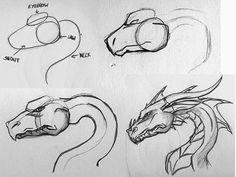 как рисовать водяного дракона