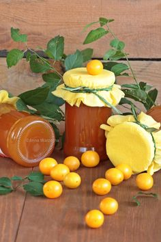 Wiem co jem - Dżem mirabelkowy z miętą Polish Recipes, Canning Recipes, Tortellini, Preserves, Food And Drink, Eggs, Cheese, Homemade, Fruit