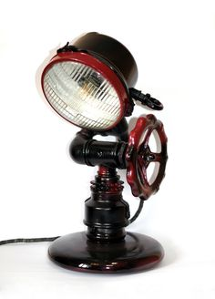 table lamp, made of non-ferrous and ferrous metal.