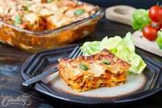 This chicken lasagna tastes incredible good. The sauce is really delicious and very flavorful, the Parmesan on top gets such a wonderful taste and color while baking. Definitely a must!