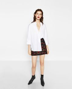 EMBROIDERED MINI SKIRT-NEW IN-WOMAN | ZARA United States