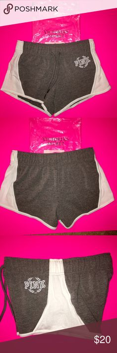 """NEW VICTORIA SECRET SIZE SMALL CAMPUS SHORTS Brand NEW VICTORIA SECRETS  """"PINK"""" BRAND VARSITY SHORTS. SIZE SMALL BRAND NEW NO TAGS WAS BOUGHT DIRECTLY FROM Victoria SECRET WEBSITE. Came in the plastic online packaging as shown. Bundle and save! Cheaper on Ⓜ️ERCARI PINK Victoria's Secret Shorts"""