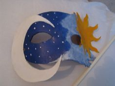Made this for my mom for Christmas. Night and Day Mask Sistema Solar, Solar System For Kids, Day For Night, Crafty, Christmas, Moon, Ideas, Yule, Xmas