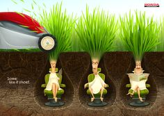 Honda lawn mowers: Some like it short Advertising Agency: Geometry Global, Kiev, Ukraine Creative Director: Nadia Trikoz Senior Art Director: Sergey Yaroslavtsev Designer: Valentyn Bielienkov Illustrator: Nikita Solovyov Copywriter: Antonina Nikishyna Account Manager: Marta Kalynets​