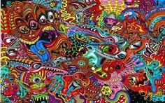 Caras psicodélicos wallpaper - Christian Lagos