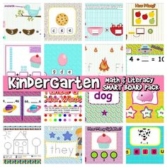 Do you teach kindergarten and have a Smart Board? You will love this resource! Contains 16 games based on the common core standards along with assessment worksheets. Over 200+ reviews at TpT! ($)