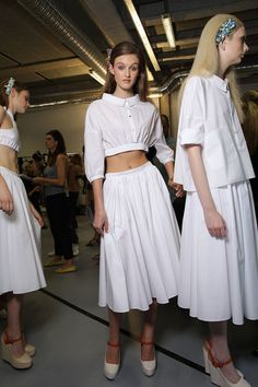 vvv Véronique Leroy Spring 2012 - Backstage
