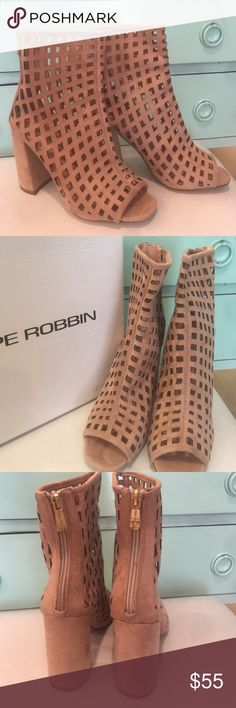 Spotted while shopping on Poshmark: Nude Caged Booties! #poshmark #fashion #shopping #style #Shoes