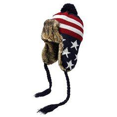 Unisex Men s Women s Teens American Flag Winter Peruvian Knit Hat Warm  (Navy)  fashion 40a7ac391dc5